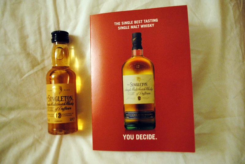 Free bottle of whisky