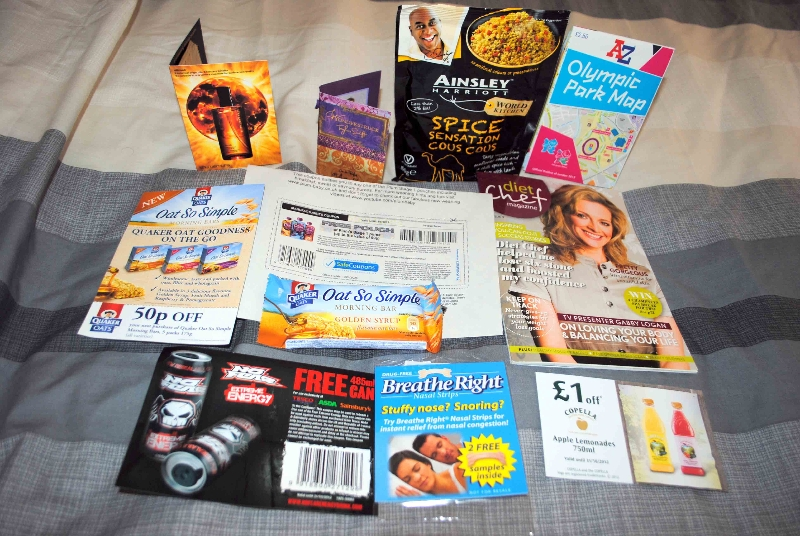 Loads of freebies this week - Free Ainsley Harriot cous cous, free Olympic park map, Free Quakers oat breakfast bar, Free Taylor Swift wonderstruck perfume and more!