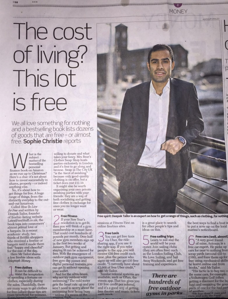 Sunday Telegraph Article image