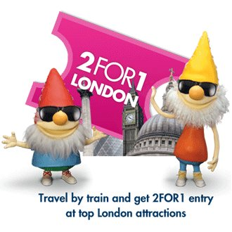 2 for 1 london attractions when you travel by train