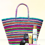win summer tote bag and designer sunglasses