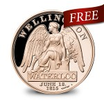 <b>Free Solid Bronze Waterloo Medal</b>