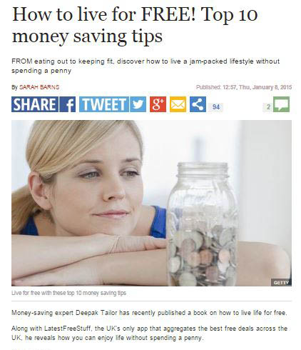 How To Live For Free Tips