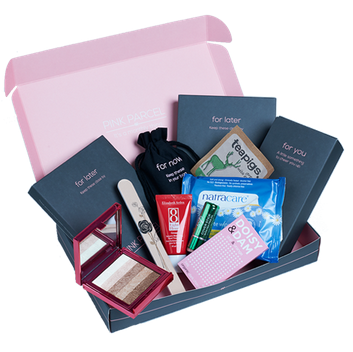 Free pink parcel box worth 1299 latestfreestuff order your free pink parcel worth 1299 packed full of food make up and pampering goodies to make your time of the month more enjoyable reheart Choice Image