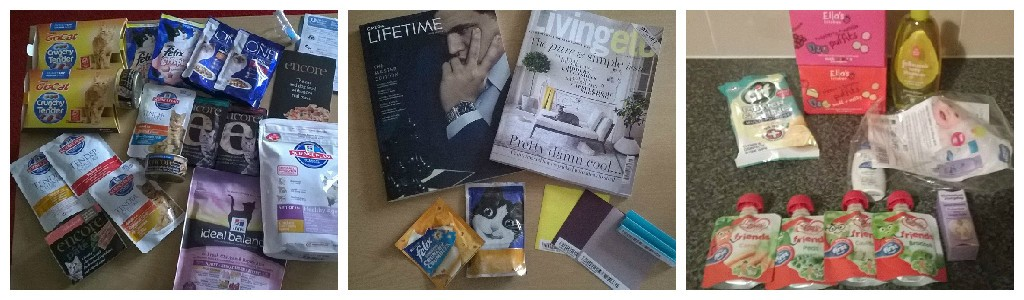 Free cat food, magazines, baby food and more.