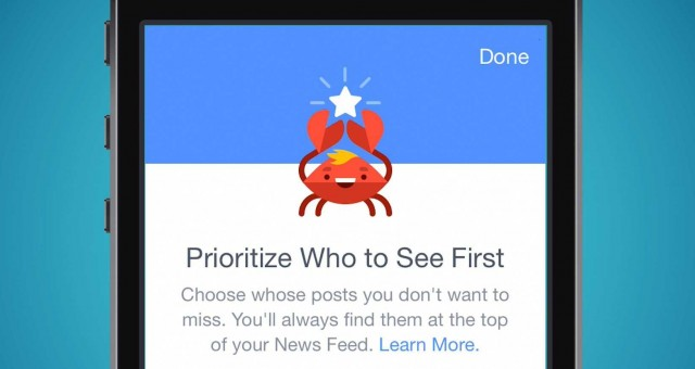 Facebook See First feature