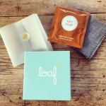 Free Loaf fabric swatches and hot chocolate
