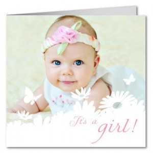 free baby card samples