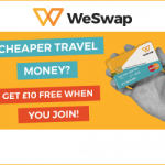 free £10 travel money from weswap