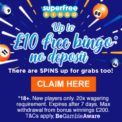 Get Up to £10 Free Bingo Cash