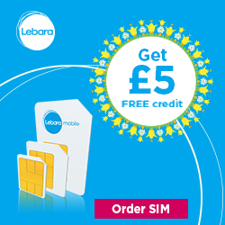 Free Lebara SIM card with £5 credit