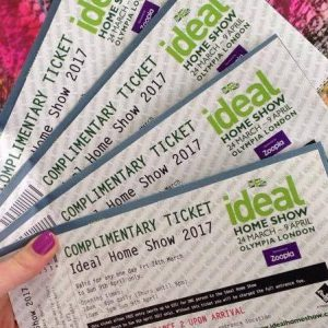 free ideal home show tickets 2018. Black Bedroom Furniture Sets. Home Design Ideas