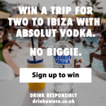 <b>Win a Trip For Two To Ibiza With Absolut Vodka</b>