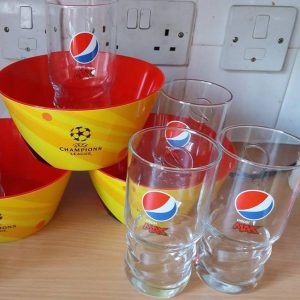 Free Walkers Bowls & Pepsi Glasses