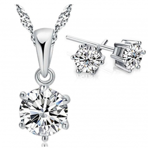Free Sterling Silver Necklace & Earrings (Worth £29.99)