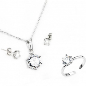 Free Silver Earrings, Necklace & Ring