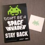free space invader sticker