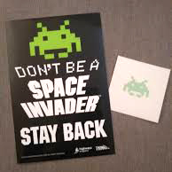 Free Space Invaders Stickers