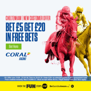 Free £20 Bets For Cheltenham Races