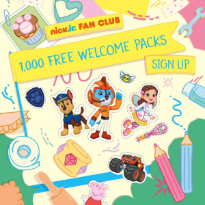 Free Nick Jr Kids Welcome Packs