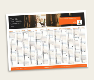 Free 2020 Wall Planner