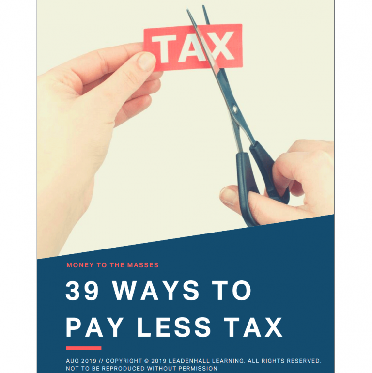 Free 39 Ways To Pay Less Tax Book
