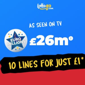 £26M EuroMillions Jackpot – Get 10 chances for just £1