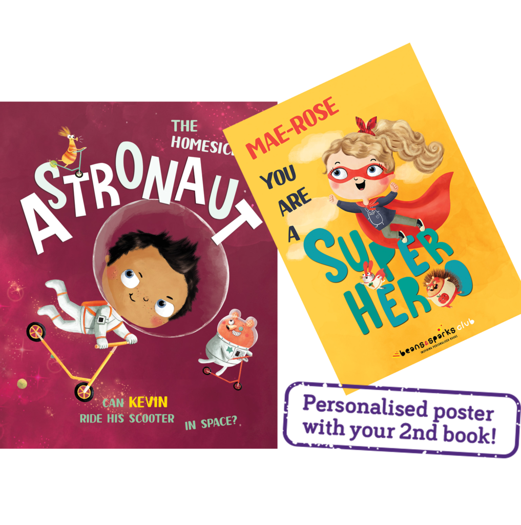 Free Personalised Kids Book & Poster (Worth £12.99)