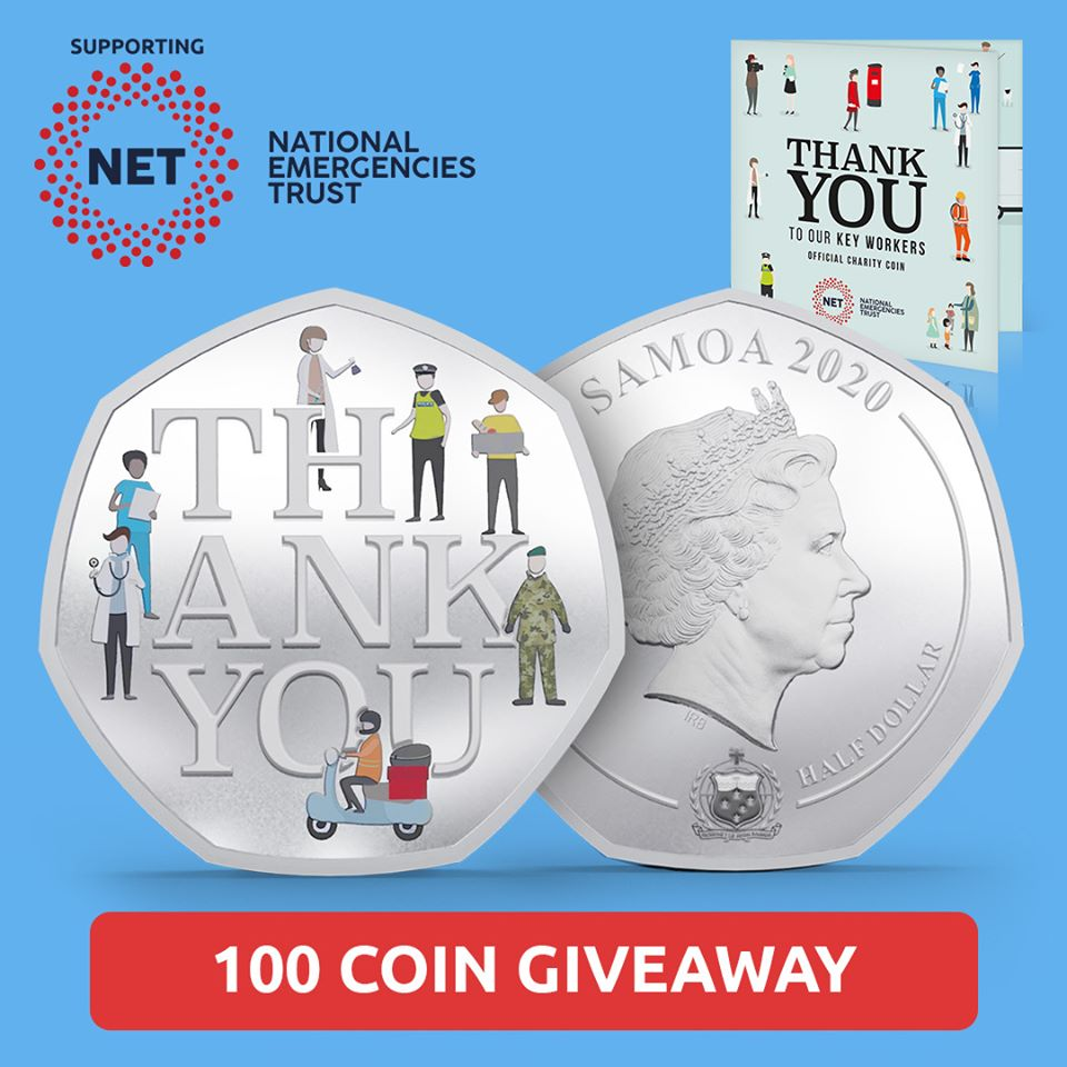 Free Thank You Coin