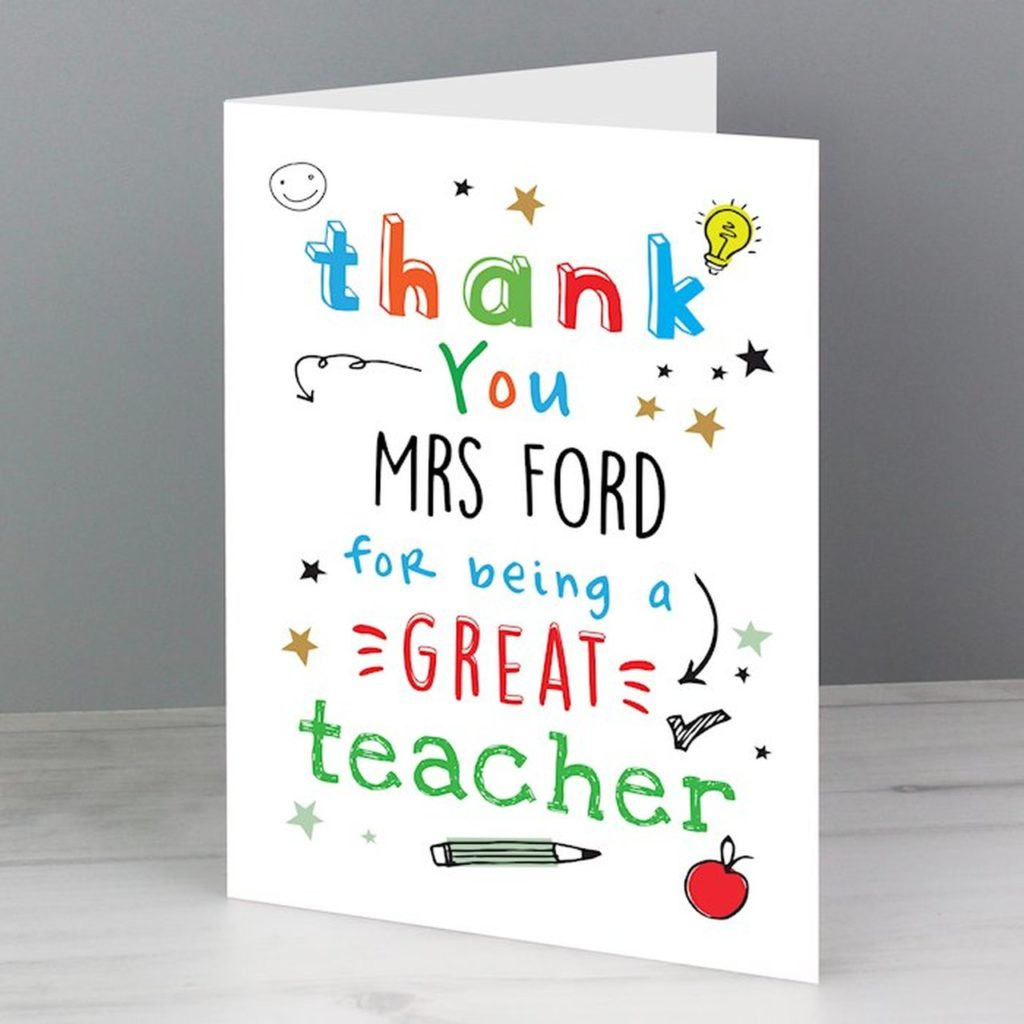 Free Thank You Card to a Teacher