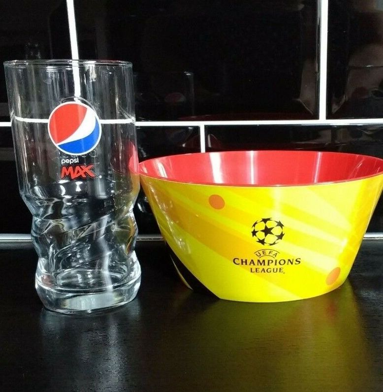 Free Walkers Bowl & Pepsi Glass Bundle