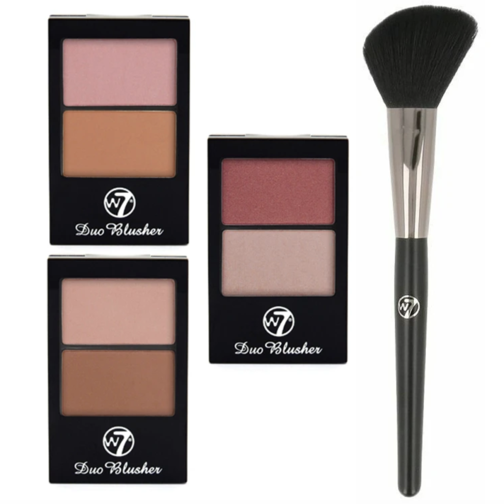 Free W7 Blusher and Brush Set