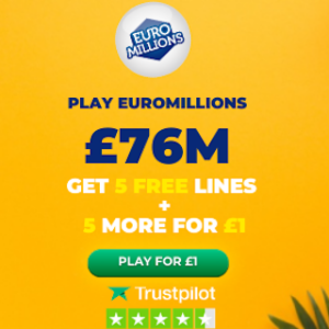Free EuroMillions Tickets (£76M Jackpot)