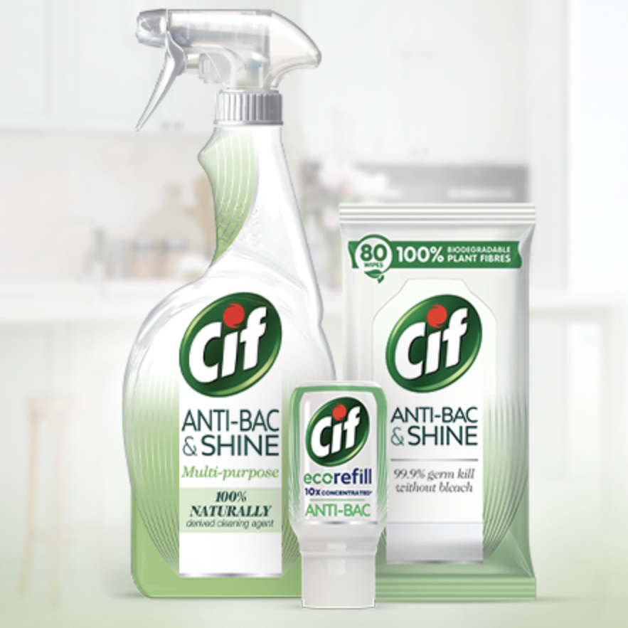 Free Cif Cleaning Spray & Wipes