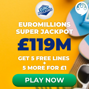 Free EuroMillions Tickets (£119M Jackpot)