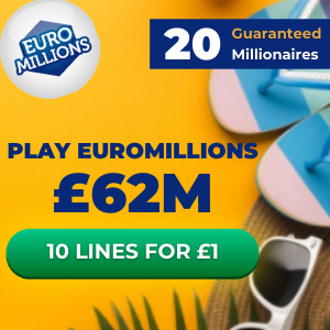 Free EuroMillions Tickets (£62M Jackpot)