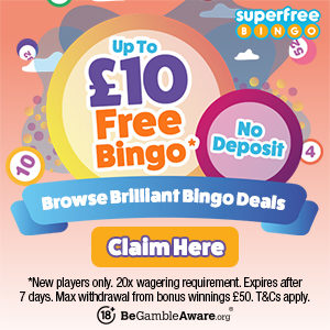 Get Up to £10 Free Bingo Money