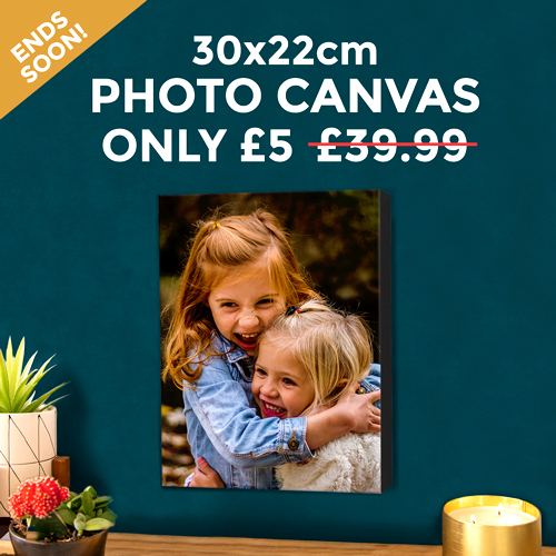Get a Photo Canvas (Worth £39.99) – Only £5 Today!