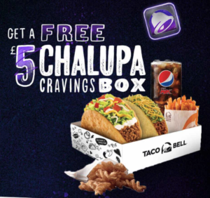 Free Taco Bell Meal Box (Worth £5)