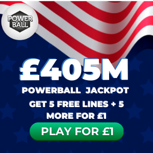 Free Powerball Tickets (£405M Jackpot)