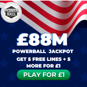 Free Powerball Tickets (£88M Jackpot)