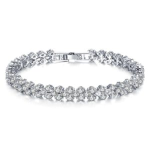 Free Silver Crystal Bracelet (Worth £25)