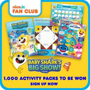 Free Nick Jr. Baby Shark Activity Pack