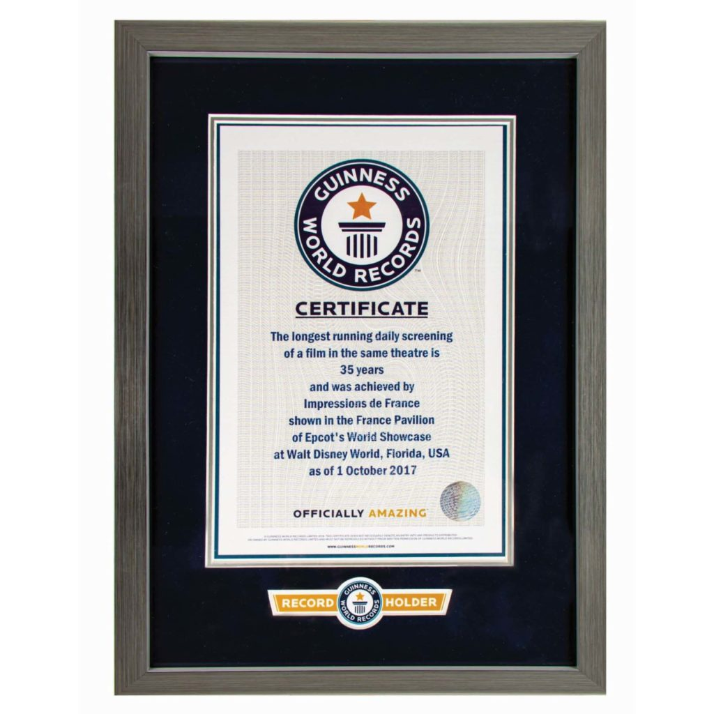 Free Guinness World Record Certificate