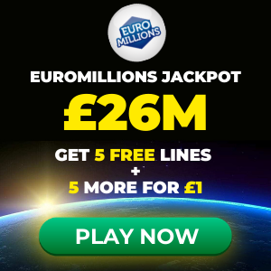 Free EuroMillions Tickets (£26M Jackpot)